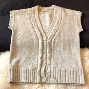 MICHAEL KORS • Cable Knit Sweater Vest • XL